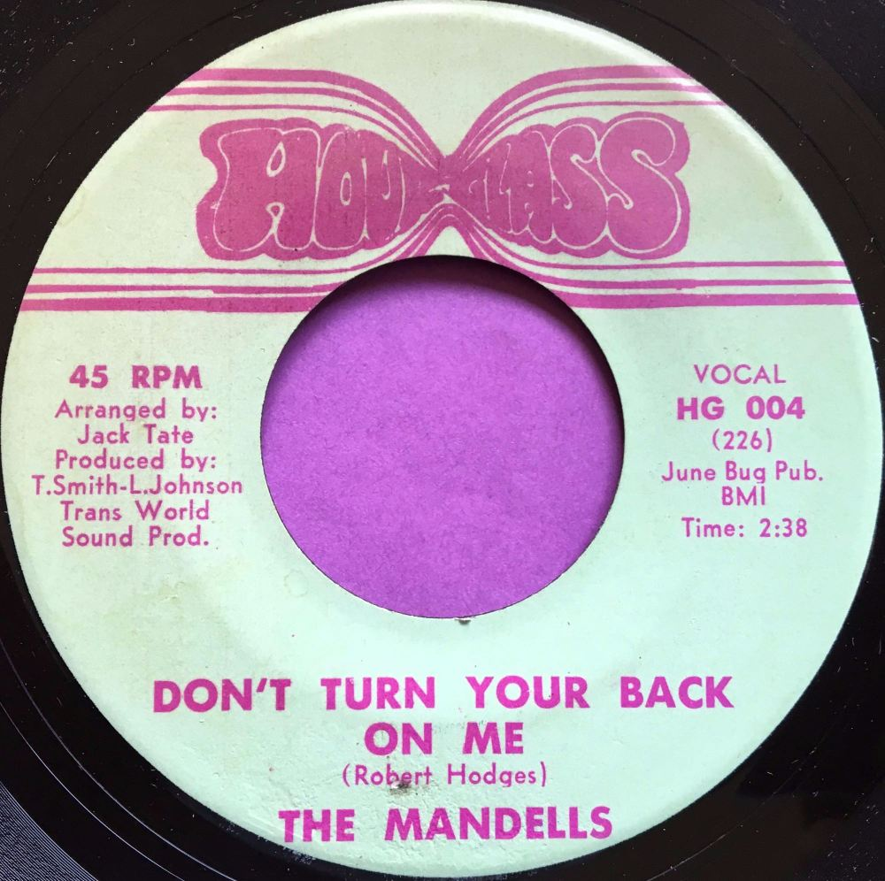 Mandells-Don't turn your back on me-Hour glass E+