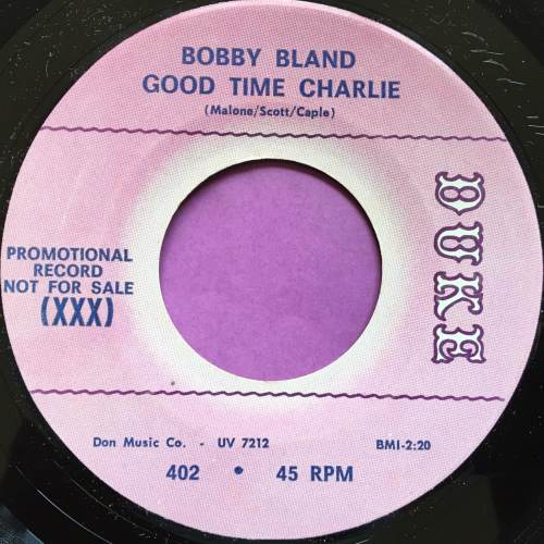 Bobby Bland-Good time Charlie-Duke demo M-