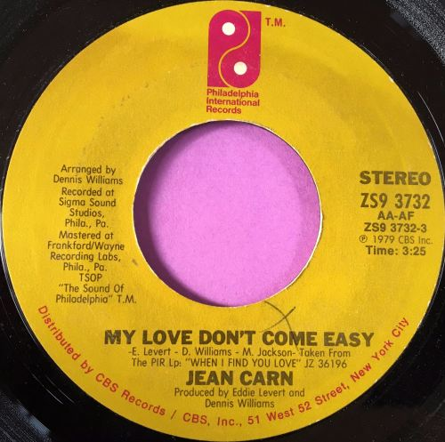 Jean Carn-My love don't come easy- wol PIR E+