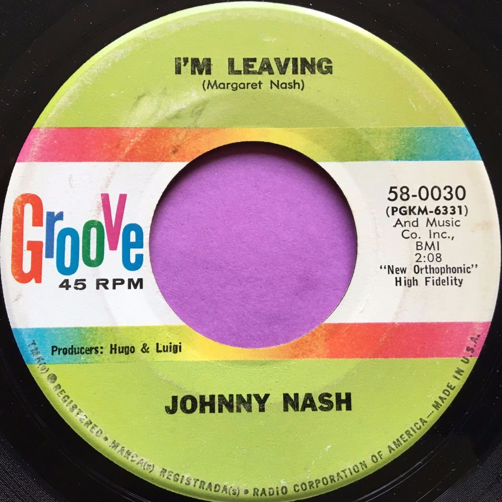 Johnny Nash-I'm leaving-Groove E