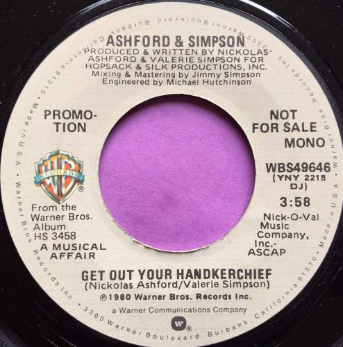 Ashford and Simpson-Get out your handkerchief-WB demo E+