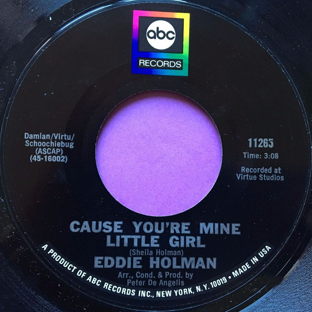 Eddie Holman-Cause you`re mine little girl-ABC M-