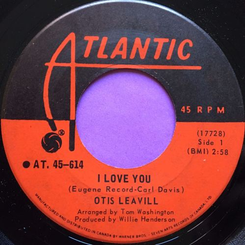 Otis Leavill-I love you-Candian Atlantic E+