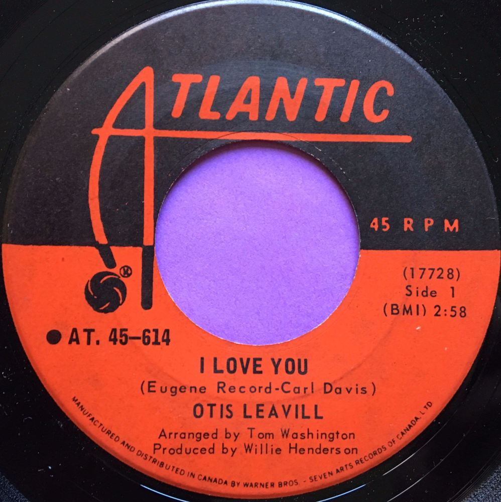 Otis Leavill-I love you-Candian Atlantic E+