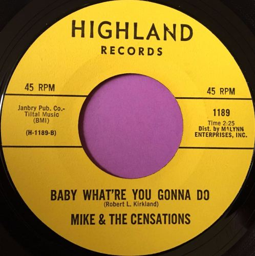 Mike and Censations-Baby what're you gonna do-Highland E+