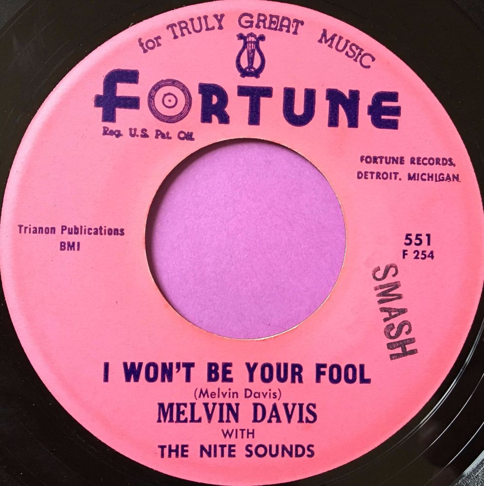 Melvin Davis-I won't be your fool anymore-Fortune E+