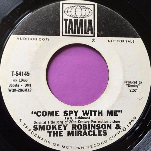 Smokey Robinson-Come spy with me-Tamla WD E