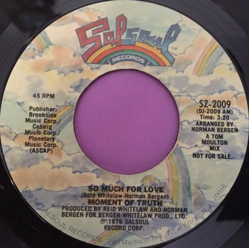 Moment of Truth-So much for love-Salsoul M-