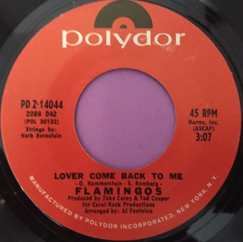 Flamingo`s- Lover come back to me-Polydor M