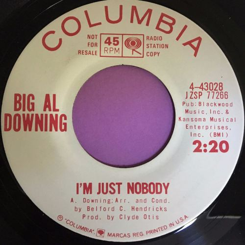 Big Al Downing-I`m just nobody-Columbia WD E+