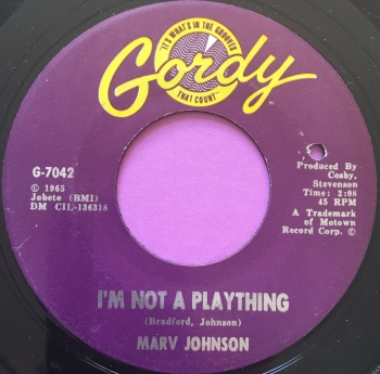 Marv Johnson-I'm not a plaything-Gordy E+