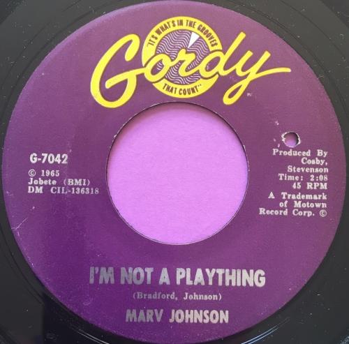 Marv Johnson-I'm not a plaything-Gordy E+