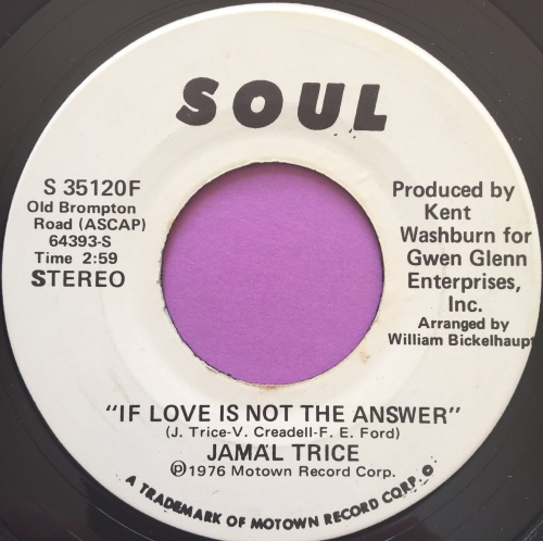 Jamal Trice-If love is not the answer-Soul WD E+