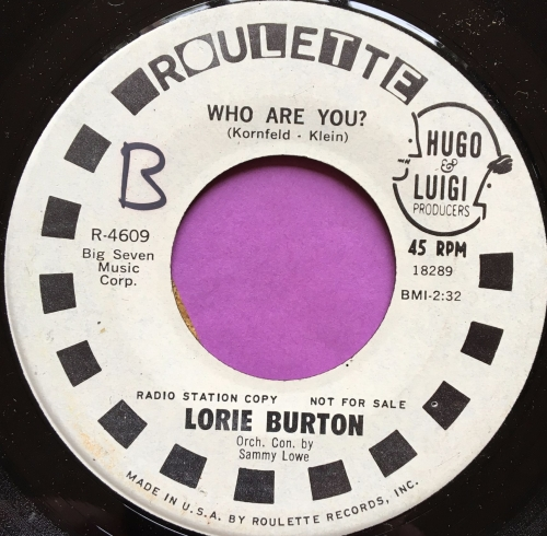Lorie Burton-Who are you-Roulette WD wol E