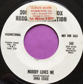Anna Craig-Nobody loves me-20th Cent WD stkr E+