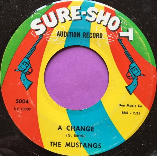 Mustangs-A Change-Sure shot vg+