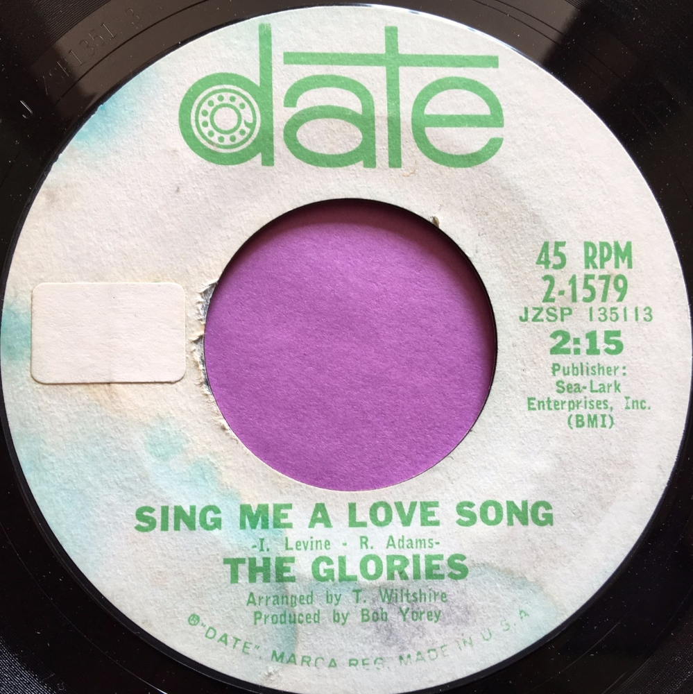 Glories-Sing me a love song-Date WD stkr  E+