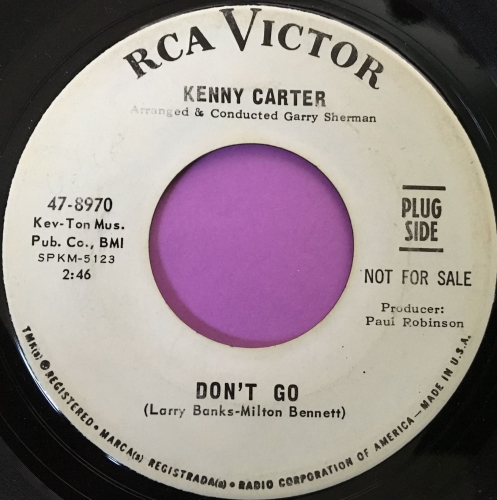 Kenny Carter-Don't go-RCA WD E