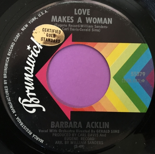 Barbara Acklin-Love makes a woman-Brunswick stkr M-
