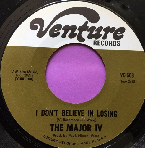 Major iv-I don't believe in losing-Venture M-