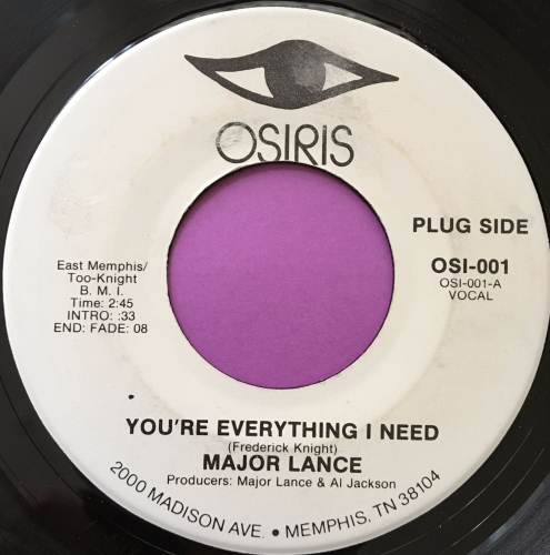 Major Lance-You're everything I need-Osiris WD E+