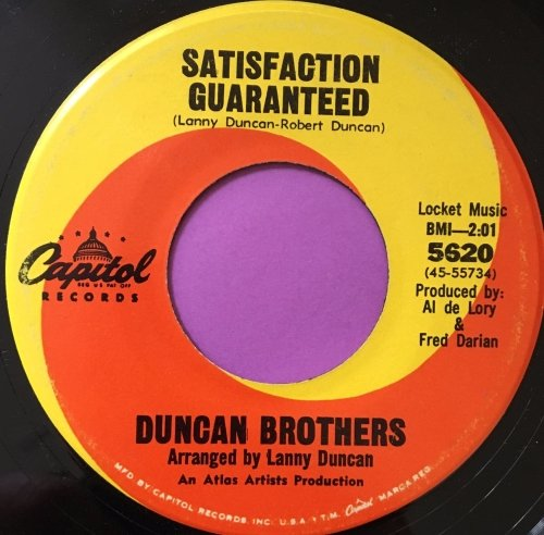 Duncan Brothers-Satisfaction guaranteed-Capitol E