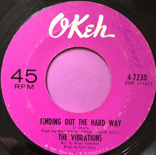 Vibrations-Finding out the hard way-Okeh wol  E+