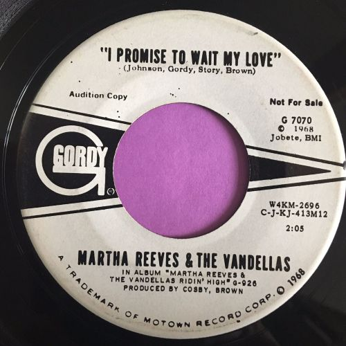 Martha and Vandellas-I promise to wait my love-Gordy WD E+