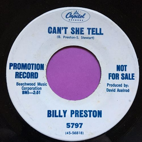 Billy Preston-Can't she tell-Capitol M-