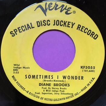 Diane Brooks-Sometimes I wonder/Picture me gone-Verve demo E+
