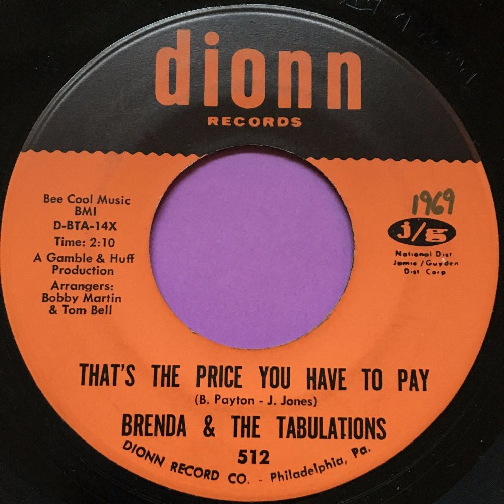 Brenda and Tabulations-That's the price you have to pay-Dionn M-