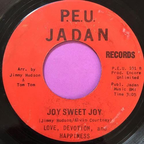 Love devotion happiness-Joy sweet joy-Jadan E