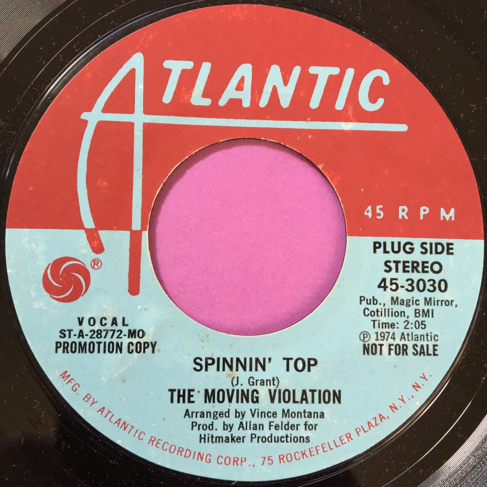 Moving Violation-Spinnin' top-Atlantic Demo M-