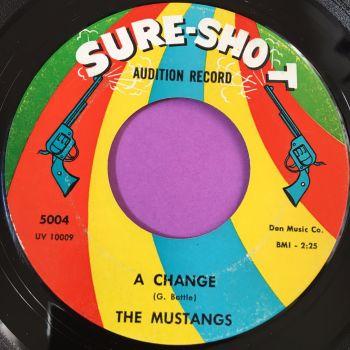 Mustangs-A change/ First love-Sure shot E+