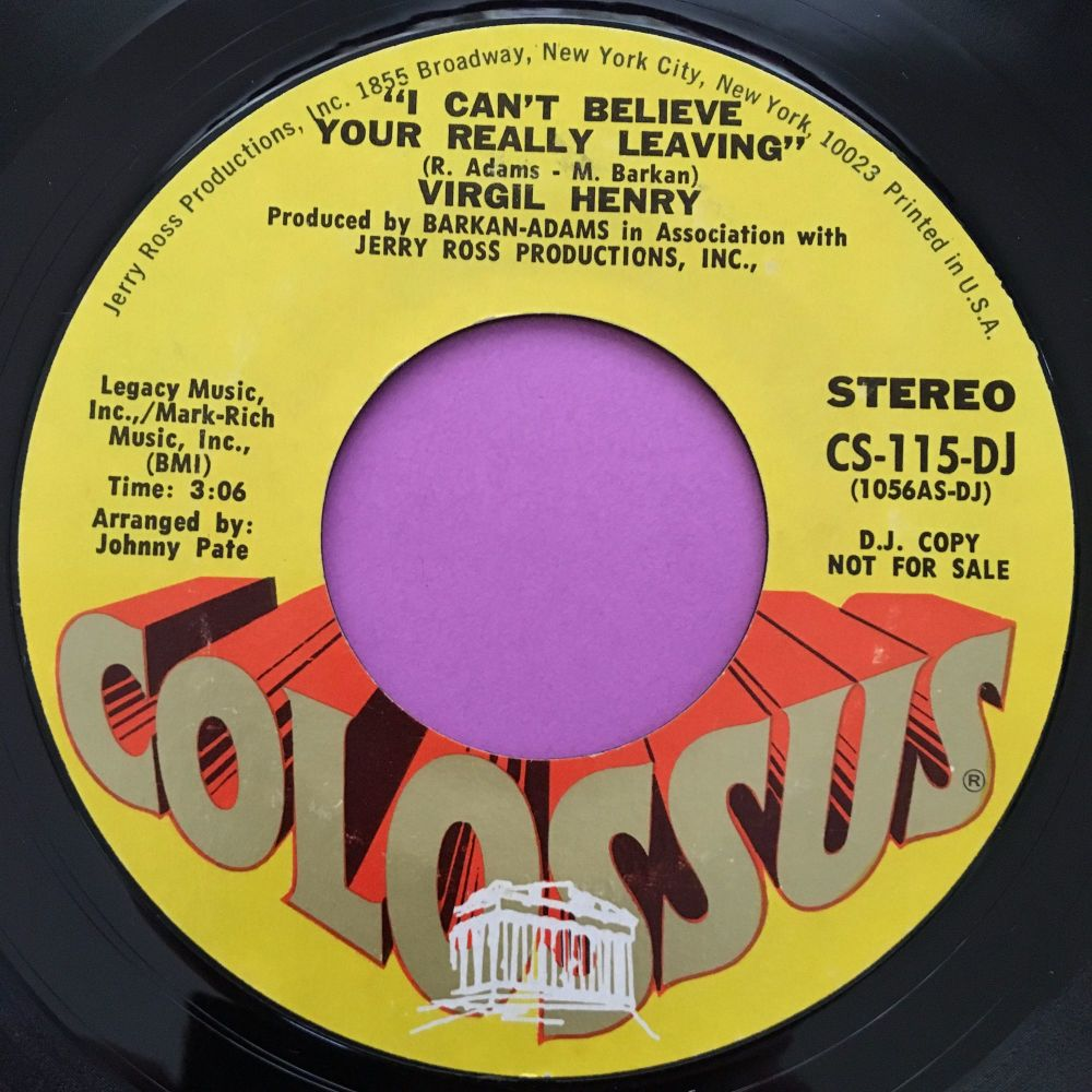Virgil Henry-I can't believe your really leaving-Colossus E+