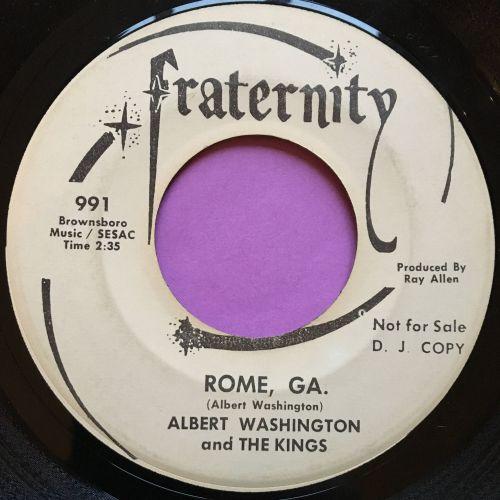 Albert Washington & Kings-Rome GA.-Fraternity vg+