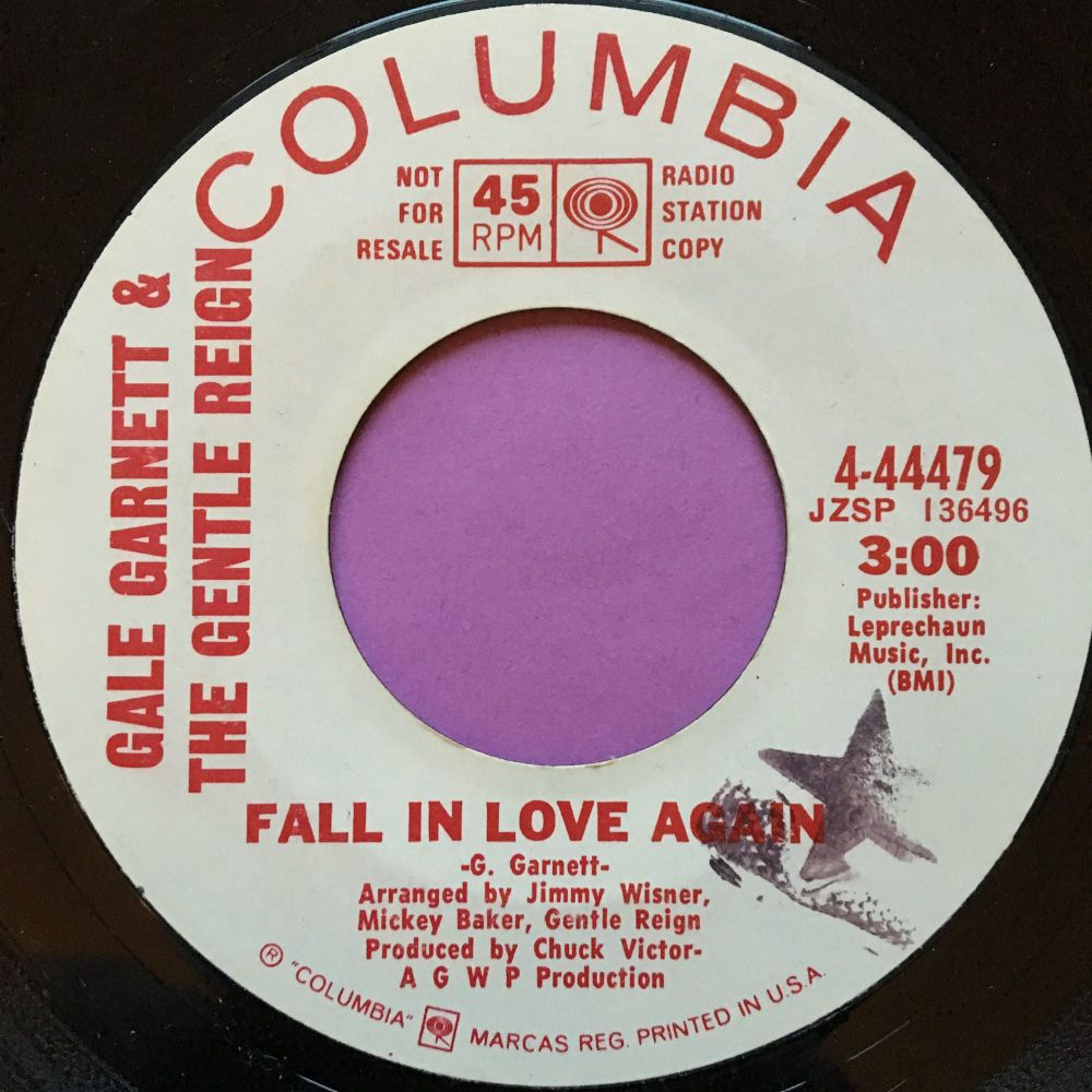 Gale Garnett & Gentle reign-Fall in love again-Columbia WD E+