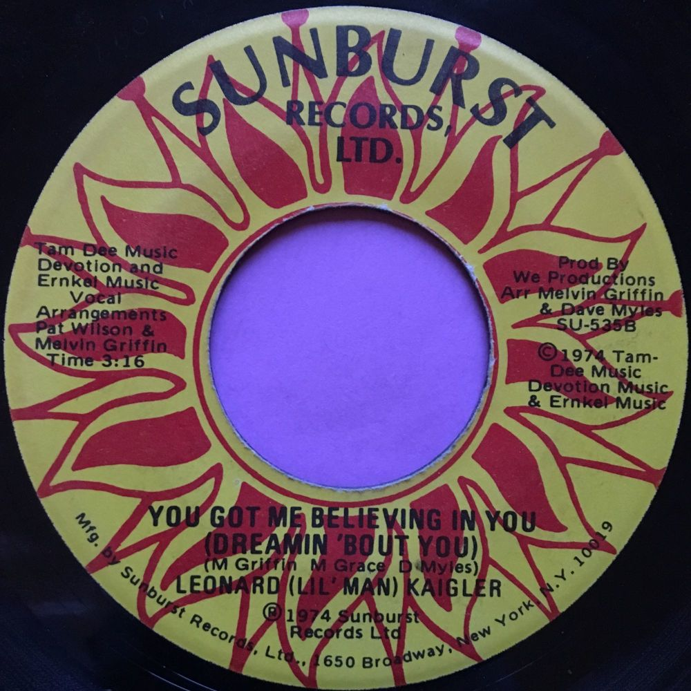 Leonard Kaigler-You got me believing in you-Sunburst E+