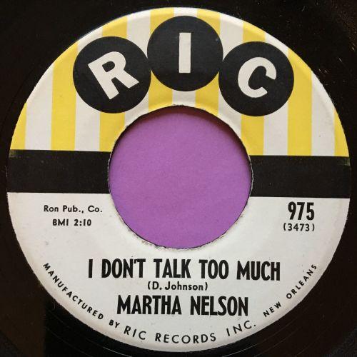 Martha Nelson-I don`t talk too much-Ric E+