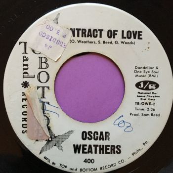 Oscar Weathers-Contract of love-Top and bottom WD stkr E+