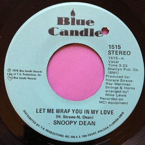 Snoopy Dean-Let me wrap you in my love-Blue candle E+