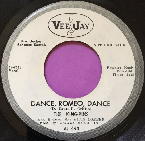 King-Pins-Dance Romeo, Dance-JeeJay WD vg+