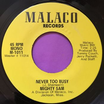 Mighty Sam-Never too busy-Malaco E+
