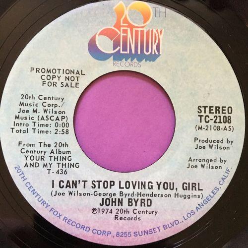 John Byrd-I can't stop loving you girl-20th century E+