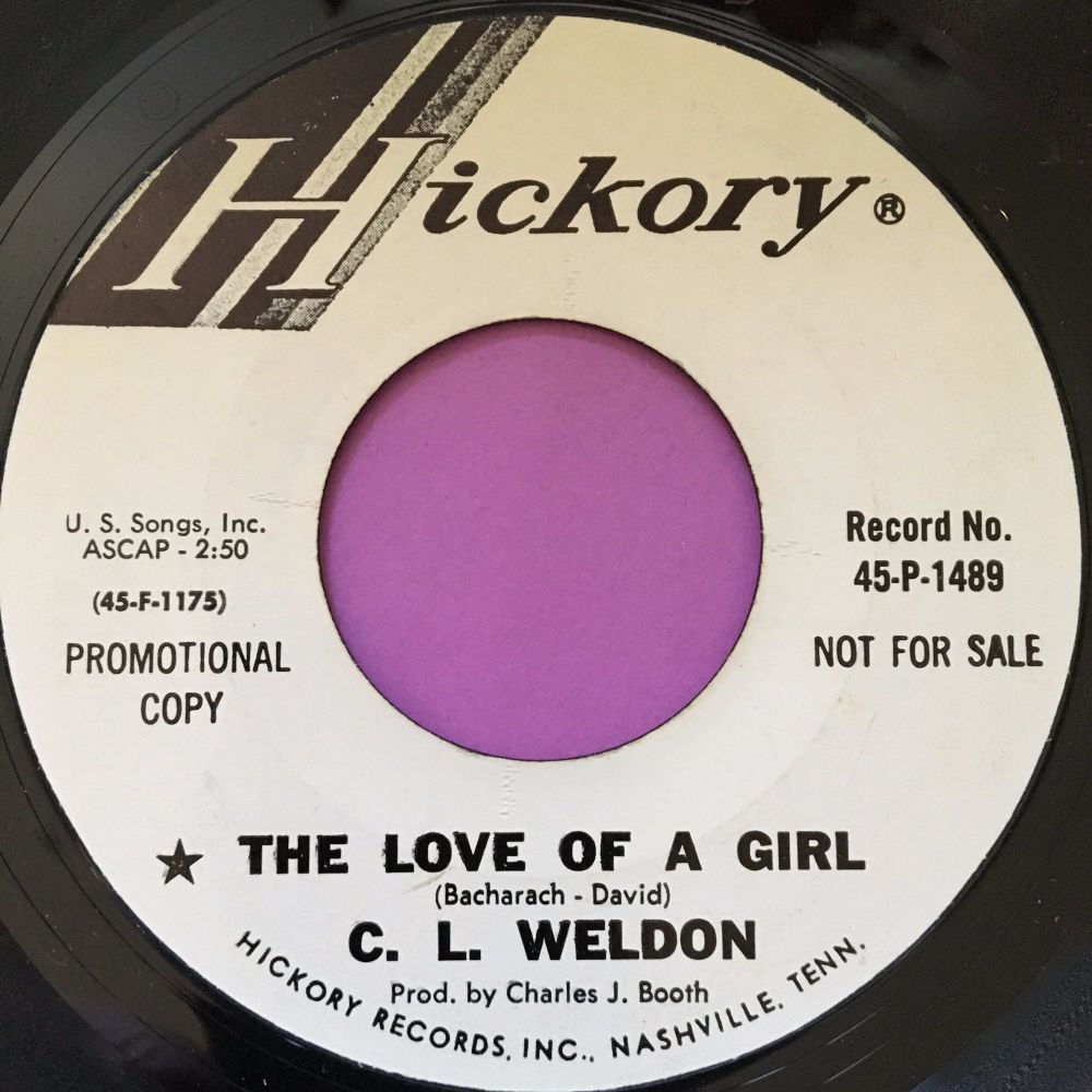 C.L Weldon-The love of a girl-Hickory WD E+