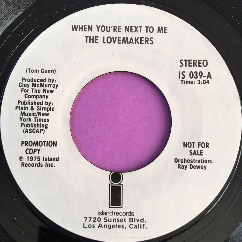 Lovemakers-When you're next to me-Island WD E+