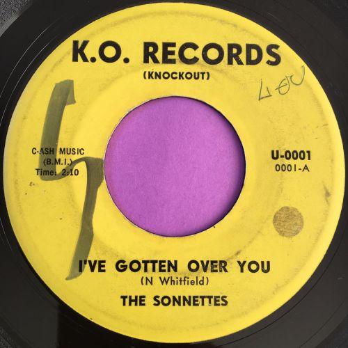 Sonnettes-I've gotten over you-KO wol vg+