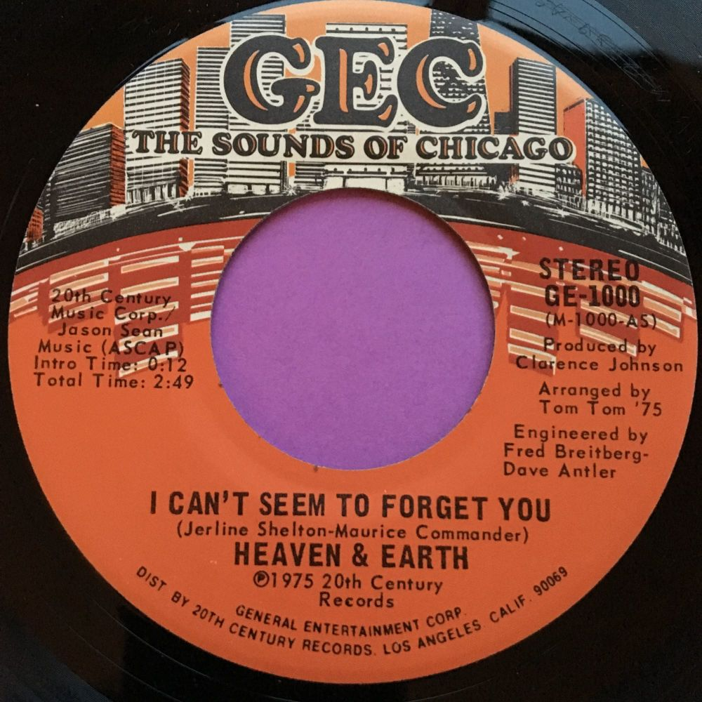 Heaven and Earth-I can't seem to forget you/ Promises-GEC E+