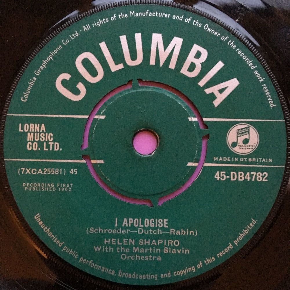 Helen Shapiro-Tell me what he said-German Columbia E
