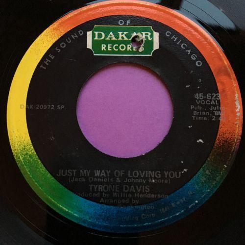 Tyrone Davis-Just my way of loving you-Dakar E+